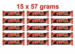 15 x TUPLA Maxi Finnish Cocoa Nougat & Almonds Chocolate Bar 15 x 50g 2oz