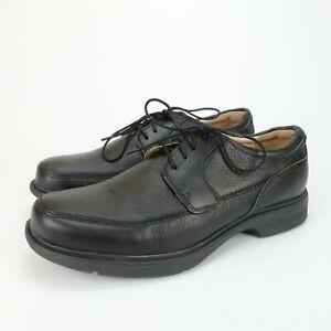 Abeo Logan Men's Comfort Orthotic Dress Shoes Black Leather Size 10.5 M Neutral