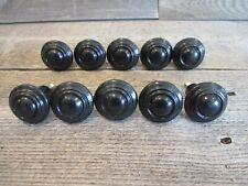 10 KNOBS DRAWER KNOB PULL BIN BLACK HANDLE CABINET CUPBOARD KITCHEN BATHROOM