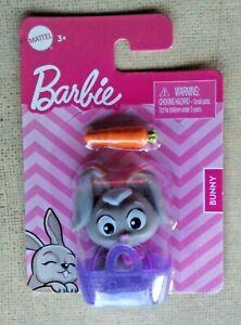 Barbie Pets Bunny w/basket & carrot NEW