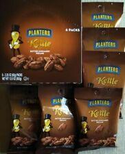 6 Pack - Planters Kettle Cooked Butter Cinnamon Pecans 2.25 Oz Ea. (Exp-07/2020)