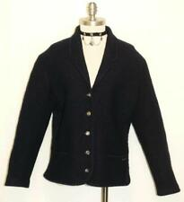 BOILED WOOL ~ BLUE German Designer WOMEN Sport Winter Dress JACKET Coat 10 12 M