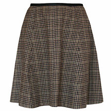 LANVIN PARIS by Alber Elbaz wool cashmere a-line silk trim skirt 42-FR/10-US