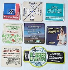 8 Advertising & Safety Beer Mats Coaster Used Country Fairs 1976 Co op Planning