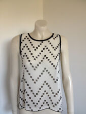 Vivace Black Creme Sleeveless Wrap Black with Cut Out Size 10 ?