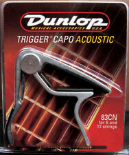 Dunlop JD-83CN Acoustic Guitar 6 Or 12 String Trigger Nickel Curved Capo