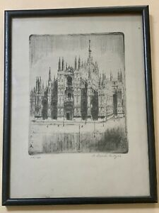 Antique Print Milan Cathedral - Signed and Numbered