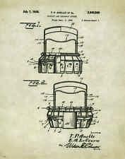 Doughnut Donut Patent Poster Art Print 11x14 Machine Maker Cutter Shop PAT129