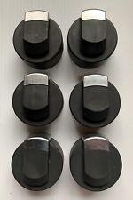 BRINKMANN GAS GRILL KNOB SET, SIX (6) KNOBS, ORIGINAL, GENUINE, USED