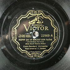 COON-SANDERS' ORCH Keepin' Out of Mischief Now/I Know You're Lying VICTOR 22969