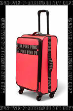 VICTORIAS SECRET PINK WHEELIE SUITCASE LUGGAGE SPINNER NEON HOT PINK