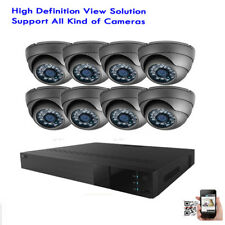 8Ch All-in-One Hdmi Dvr 1800Tvl Dome 24Ir 3.6mm Security Camera System 1Tb 76hyt