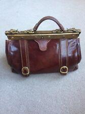 Italian Leather Doctors Bag Brown Handbag