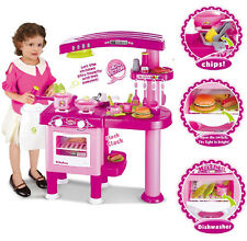 KIDS CHILDRENS LARGE ROLE PLAY KITCHEN COOKING PRETEND COOKER CHEF PLAYSET TOY