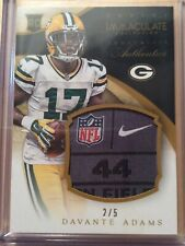 2014 Devante Adams Immaculate Jersey Tag Rookie #2/5 Packers