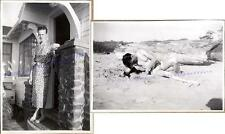 1930s Young Man Hunk on Beach Swim Suit Cottage Porch House Coat Robe Photos