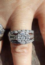 Genuine Diamond Ring in Sterling Silver Size 7