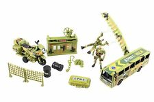 ARMY base Contrôle Militaire Command Center/2 SOLDATS/TOY CARS/combat