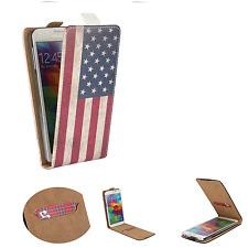 HUAWEI Ideos X3 - Smartphone Hülle Tasche Schutzhülle - Flip XS USA