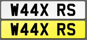 W44 XRS Cherished Reg Number Plate WAX PORSCHE AUDI RS4 RS6 RS LAMBO FAST LOW