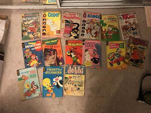 Lot of 15 Cartoon Comics:    Yogi Bear,   Gold Key, Daffy Duck, Casper