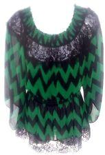 XOXO Green and Black Long Sleeve Shirt Size M
