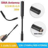 SMA Male Walkie Talkie Foldable Antenna UHF VHF Aerial  for Yaesu Baofeng Radio
