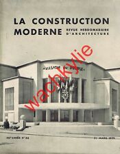 La construction moderne 31/03/1935 Maison du peuple Venissieux Clinique Moulins