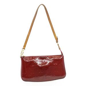 LOUIS VUITTON Vernis Pochette Accessoires Pouch M91574 Rose Indian 16903