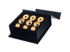 Getzen Trumpet Trim Kit HEAVY caps. KGUBrass. 24K Gold Plated. TKHG104