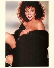 Nude Joan Collins Wearing Black Fur Coat Color Photo