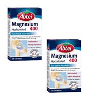 2xPack Abtei Magnesium 400 Tablets Dietary Supplement *GERMANY*
