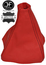 RED LEATHER BLACK STITCH FITS HOLDEN MONARO 2001-2006 LEATHER GEAR BOOT