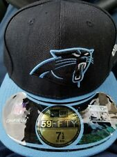 Carolina Panthers 7 1 2 Fitted 59Fifty New Era NFL Onfield Hat Cap Black  Blue 88bba069495e