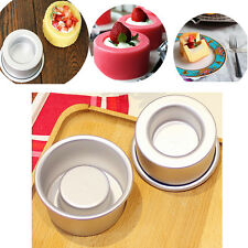 "2PCS 3"" Mini Cupcake Dual Baking Tins Pans Jelly Pudding Mould Bakeware"