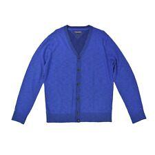 TOMMY HILFIGER Herren Strickjacke L 20 blau Cardigen Viscose Jacket Knit NEU