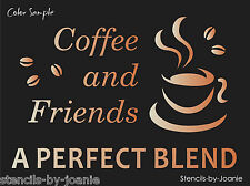 Joanie Stencil Coffee Friends Perfect Blend Latte Cafe Mocha Cup Kitchen Signs
