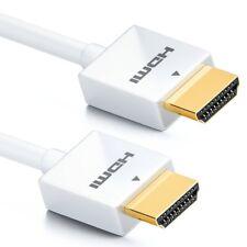 deleyCON 1m HDMI Kabel Flexy Serie 1.4a HighSpeed / FullHD / 2160p / 3D - weiß