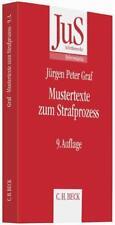 Mustertexte zum Strafprozess von Jürgen Peter Graf, Dietrich Rahn und Hans Chris