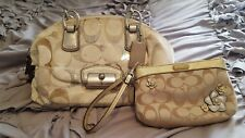Coach Handbag and Wristlet