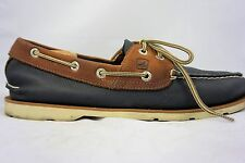 Sperry Top-Sider Men's 10M Brown Dark Blue Boat Shoes