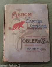 #T11. TOBLER  CHOCOLATE CARD ALBUM, ABOUT 1900, ALMOST COMPLETE, 177 of 180
