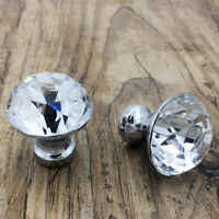 25/30/40MM Clear Crystal Door Pull Handle Knob Drawer Cabinet Furniture Supplies