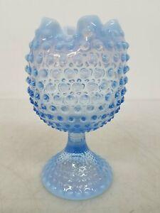 Fenton Blue Art Glass Goblet FC