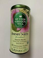 The Republic of Tea Organic Immunity Super Green Tea Bags (36 Tea Bags)