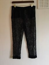 Topshop Premium Lace Sheer Trousers Size 10