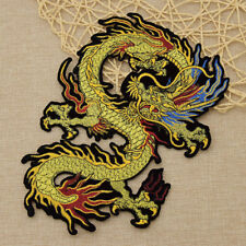 Embroidery Dragon Patch Applique Sew On Fabric DIY Bag Coat Jeans Decoration 1pc