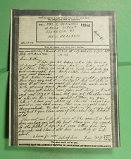 DR WHO 1944 NEW ZEALAND ITALY AIRGRAPH *LETTER ONLY WWII CENSORED  f87788