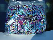 Vera Bradley Disney Parks Mickeys Paisley Celebration Iconic Tote Bag Purse NWT