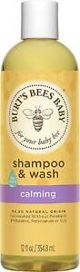 Burt's Bees Baby Shampoo  Wash, Calming Tear Free Baby Soap - 12 Ounce Bottle